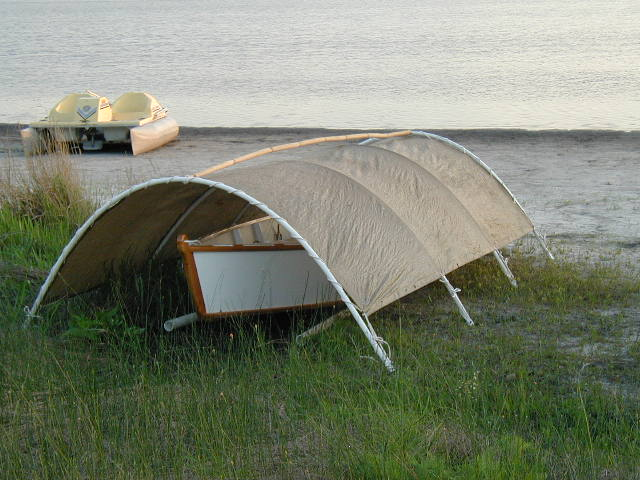 Pvc Boat Shelter : Simple boat shelter